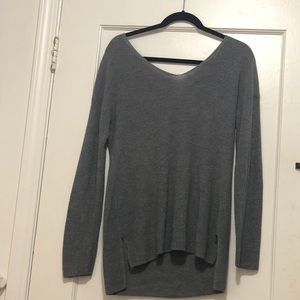 Light Gray sweater from HIPPIE ROSE with open back